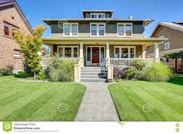 American Craftsman Style Homes Pictures by Curb Appeal Of American Craftsman Style House Stock Image