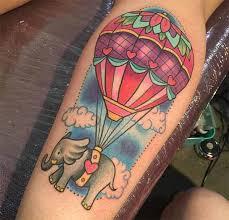 French HotAir Ballon Submarine Tattoo