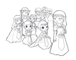 Zelda Link Coloring Page Princess And Pictures