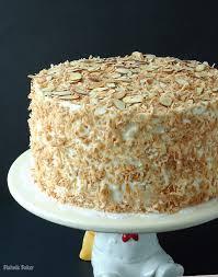 Coconut Almond Cream Cake Recipe