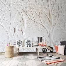 tapete 3d weißen relief wand hirsch baum erholung elegante wohnzimmer wandbilder tapeten wandbilder 3d tapeten wohnkultur