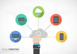 100 Flat Cloud Computing Infographic Vector Download