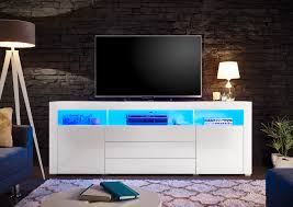 sideboard in weiß mit led beleuchtung