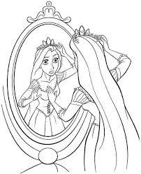 Sweet Disney Princess Coloring Pages Rapunzel