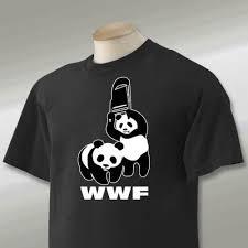panda wwf chair t shirt