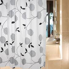 Black And White Flower Shower Curtain by Cheap White Flower Shower Curtain Find White Flower Shower