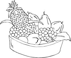 Cool Coloring Pages Fruit Fee Basket Of For Kids Point