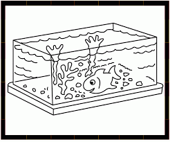 Fish Bowl Coloring Clipart Library 72970 Tank Pages