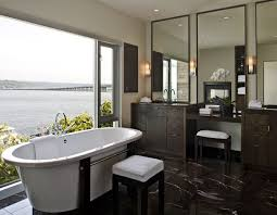 inspirations brown floor tile bathroom