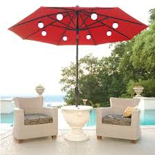 Solar Led Patio Umbrella by Large Patio Umbrella With Lights Roselawnlutheran