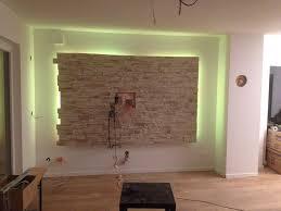 einzigartig wohnzimmer ideen steinwand tv wall decor wall