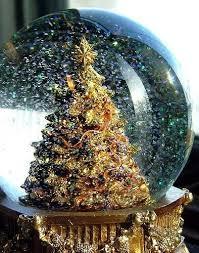 Inspiring Image Christmas Tree Snow Globe Winter Xmas