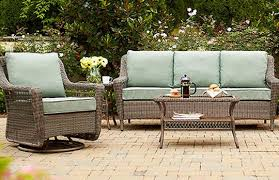 Home Depot Patio Furniture Wicker by Create U0026 Customize Your Patio Furniture Spring Haven Grey