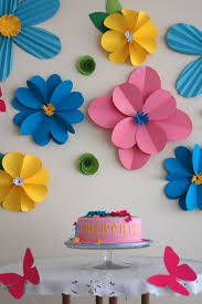 Excellent Wall Decoration With Colour Paper As Well 50 Creative And Useful Flower Ideas
