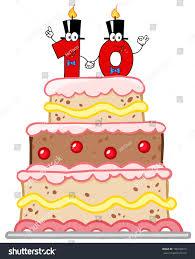 Birthday Cake Wedding Cake Number Ten Stock Vector