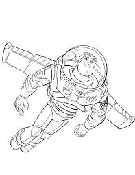 Toy Story Flying Buzz Coloring Pages