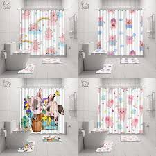 nyaa 4 pcs nette schwein rosa dusche vorhang sockel teppich