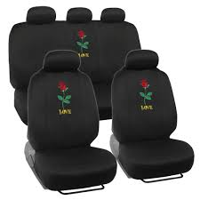 Seat Covers For Car SUV Auto Van Truck ? Rose Love Embroidered Logo ... Katzkin Leather Seat Covers And Heaters Photo Image Gallery Unique Silverado 1500 Camo Green Cover Big Truck 2 Amazoncom Oxgord 17pc Faux Gray Black Car Set Waterproof For Your Four Best Materials Microsuede By Saddleman Luxury Innx Op902001 Quilted Dog With Non Slip Geometric Patternplumcar Coversauto Coverssuv Clemson Tigersclemson Footballauto Mesh Full Auto Masque Prym1 Custom For Trucks Suvs Covercraft Bestfh 4 Headrests Sedan Suv