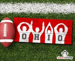 Ohio State Pumpkin Stencils Free by Diy O H I O Art Stencil Ohio State Pride