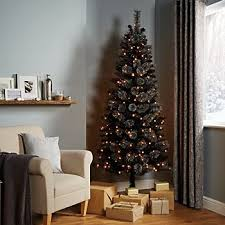 6ft Slim Black Christmas Tree by Artificial Christmas Tree Buying Guide Ideas U0026 Advice Diy At B U0026q