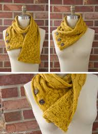 turn a scarf into a cowl with buttons make it and love it