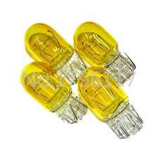 4x 580 1891 7443 t20 w21w 12v 5w 21w yellow orange xenon w3x16q