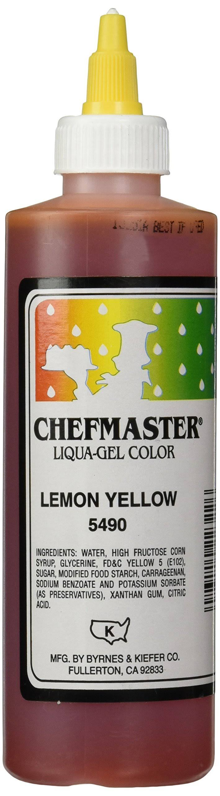 Chefmaster Liqua-Gel Food Color 10.5-Ounce Lemon Yellow