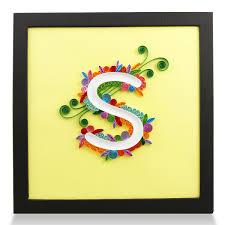 PaperTalk LETTER S 100 Handmade PaperQuilling Artwork FRAMED WALL