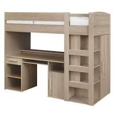 lit mezzanine 90x200 cm montana chêne gris vente de lit enfant