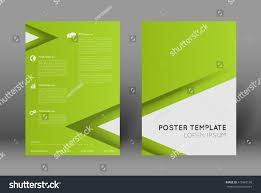 Simple Poster Design Template Abstract Green Background With Triangles