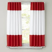 Land Of Nod Blackout Curtains by Color Edge Red 63