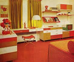 Orange 70s Bedroom Practical Encylopedia Of Good Decorating And Home Improvement 1970
