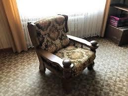 sitzgarnitur wohnzimmer eiche rustikal 2 sessel und ein