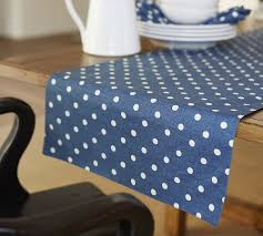 Polka Dot Table Runner. I Could Soooo Start Lovin' A Blue Kitchen ... Thatcher Ticking Stripe Table Runner Pottery Barn Pottery Barn Our Country Farmhouse Sherwin Williams Dwelling Cents Burlap Ding Set Thanksgiving Runners Tablecloth Fall Tablecloths And Napkins Autumn Easter Setting Ideas This Makes That Diy Knock Off Velvet Holiday Bre Pea Kenaf Au Room Gorgeous Impressive Dark Square With Room Avondale Macys Table Bench With Fabric Chairs Capvating Entrancing For Dresser