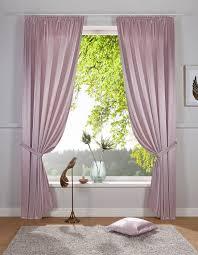 vorhang glanzsatin delavita kräuselband 1 stück inklusive raffhalter kaufen otto