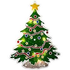 Christmas Tree Amazon Prime by Amazon Com Sienna Lighted Holographic Christmas Tree Window