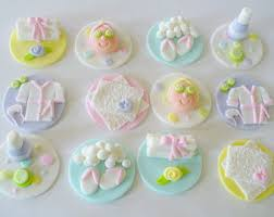 12 PASTEL SPA Theme Edible Fondant Cupcake Toppers Bridal Shower Birthday