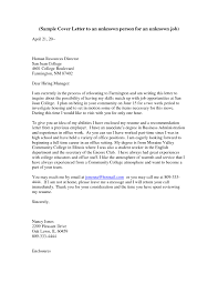 Address A Cover Letter To Unknown Person