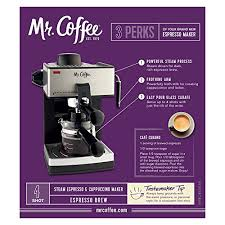 Mr Coffee ECM160 4 Cup Steam Espresso Machine Black