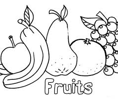 Children Coloring Pages Kids Free Printable Fruit For Download