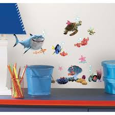 Disney Finding Nemo Bathroom Accessories by Roommates 10 In X 18 In Finding Nemo 44 Piece Peel And Stick