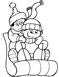 Kids Cold Weather Coloring Page