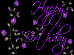 Happy Birthday Purple Roses