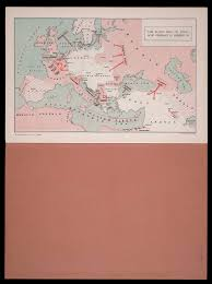 Where Did The Lusitania Sunk Map by Section Five Wartime Atlases Osher Map Library