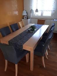 tisch und und 8 stühle in speisezimmer essecken