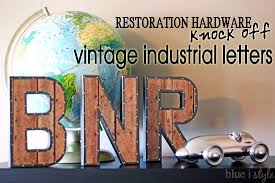 DIY with style} Restoration Hardware Inspired Vintage Industrial
