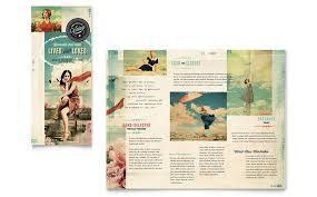 Vintage Clothing Tri Fold Brochure Template