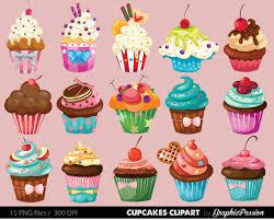 Cupcakes clipart digital cupcake clip art cupcake digital illustration cupcake Vector birthday cakes bakery sweets frosting chocolate