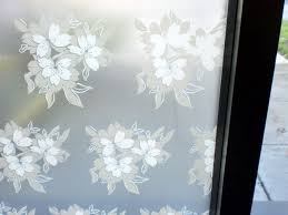 100 Flannel Flower Glass White And Grey Floral Frosted Window Film DecoFilm