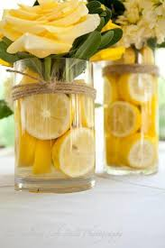 Yellow Flowers Wedding Centerpiece With A Zing Of Lemon
